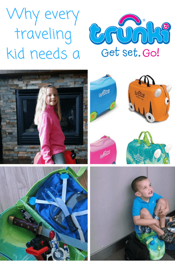 Looking for some kids' luggage that they can ride on, sit on and carry on? Then check out the Trunk--the best travel accessory for kids.