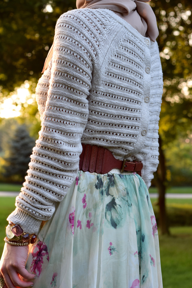 A Day In The Lalz; Sweater and Maxi Skirt; Fall Fashion; Chicwish Floral and Frill Maxi Skirt; Anthropologie Crop Sweater; Booties; Fall Style; Modest Fashion; Fashion Blog