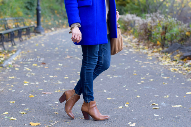A Day In The Lalz; Stroll in Central Park; NYC; Fashion Blogger; Hijab; Modest Fashion; Street style NYC; Fall in NYC Fashion; J. Crew Coat; Cobalt Blue Coat;