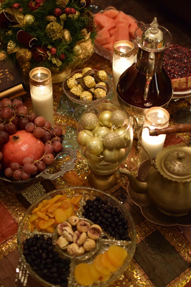 A Day In The Lalz; Winter Solstice; Shab-e-Yalda; Persian Tradition; Yalda; Pomegranate Cheesecake; Recipe: Persian Yalda Tradition