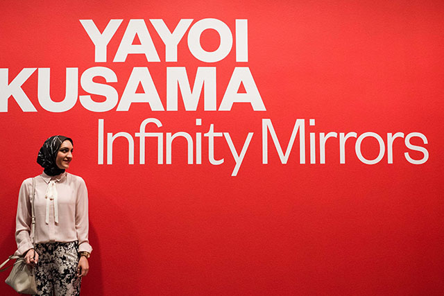 Yayoi Kunama Infinity Rooms-Hirschhorn Museum-Washington DC-Smithsonian Exhibit-Travel Blog