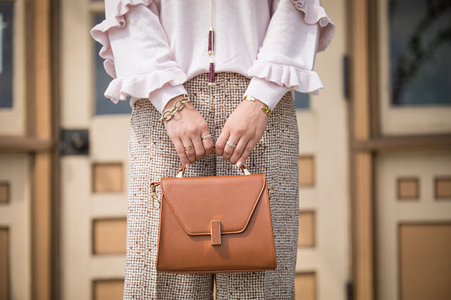 Wide Leg Culotte-Ruffle Blush Sweater-Fall Style-Urban Expressions Collette Bag