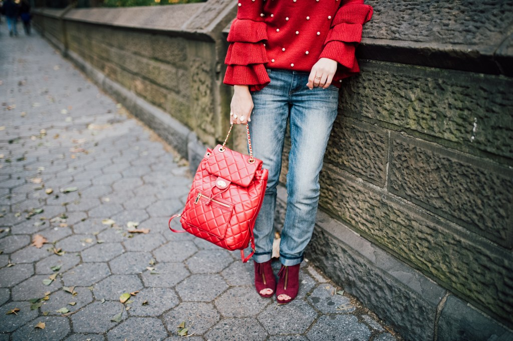 Bordeaux Pearl Sweater