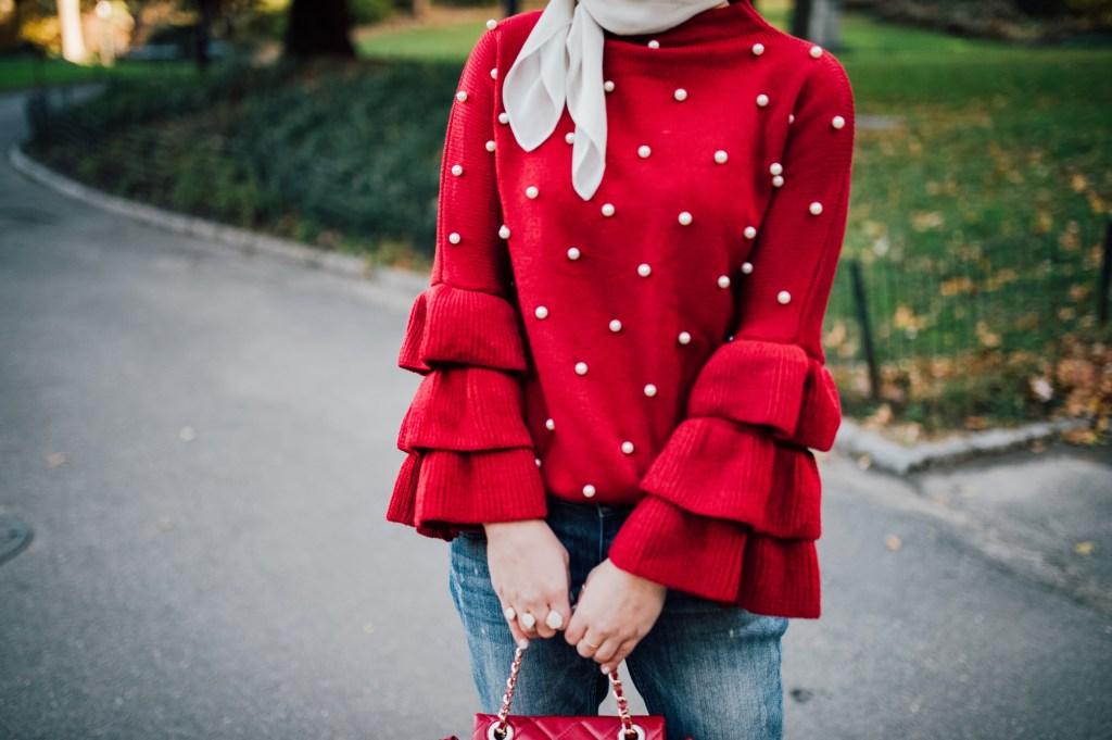 Bordeaux Pearl Sweater-Hijab-Fall outifr