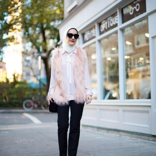 Blush Faux Fur Vest