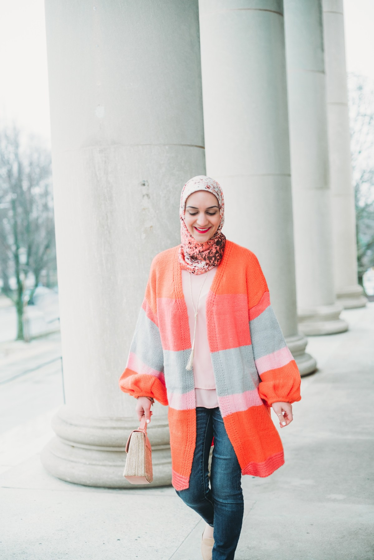 Color Block Cardigan, Spring Style, Hijab Blogger, A Day In The Lalz