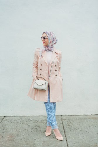 Rainy Day Style, A Day In The Lalz, J. Crew Daisylace Pant, Pink Trench Coat, Kate Spade Umbrella