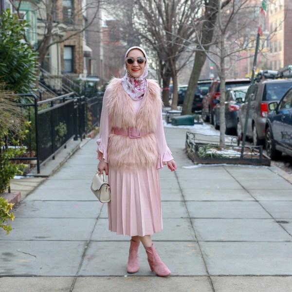Monochromatic Blush Valentine's Day Style
