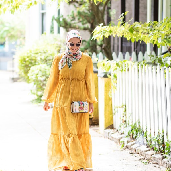 Yellow Tiered Long Sleeve Maxi Dress