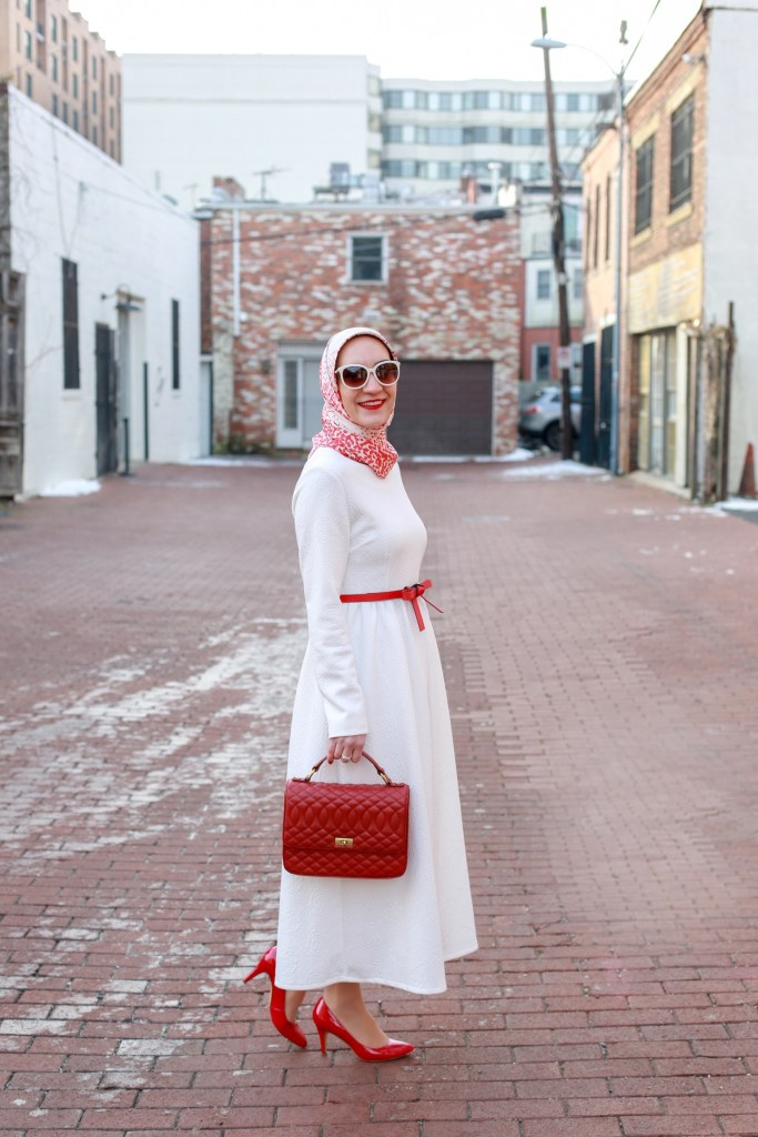 Little White Dress-LWD-Valentine's Day Outfit-Hijab Fashion-Modest Fashion
