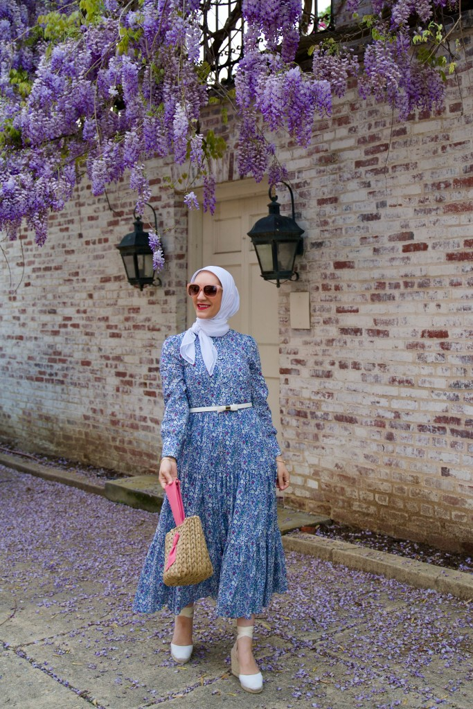 J.Crew Shirtdress-Liberty London-Wisteria in DC-Lalz-Haute HIjab=Pamela Munson Bucket BagJ.Crew Shirtdress-Liberty London-Wisteria in DC-Lalz-Haute HIjab=Pamela Munson Bucket Bag