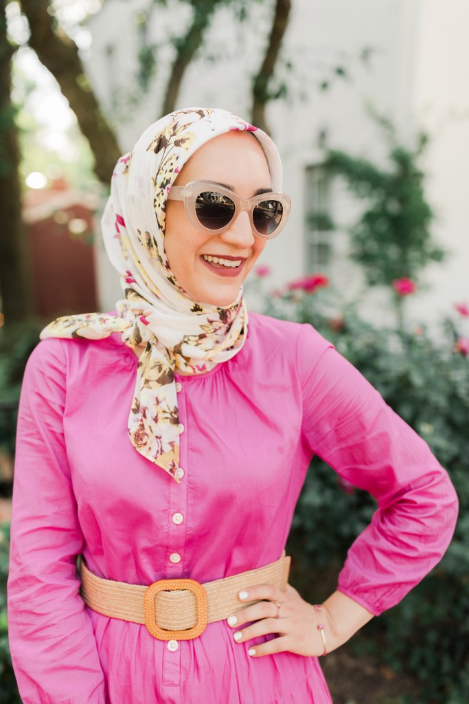 J.-Crew-Belted-Maxi-Dress-Pink-Hijab