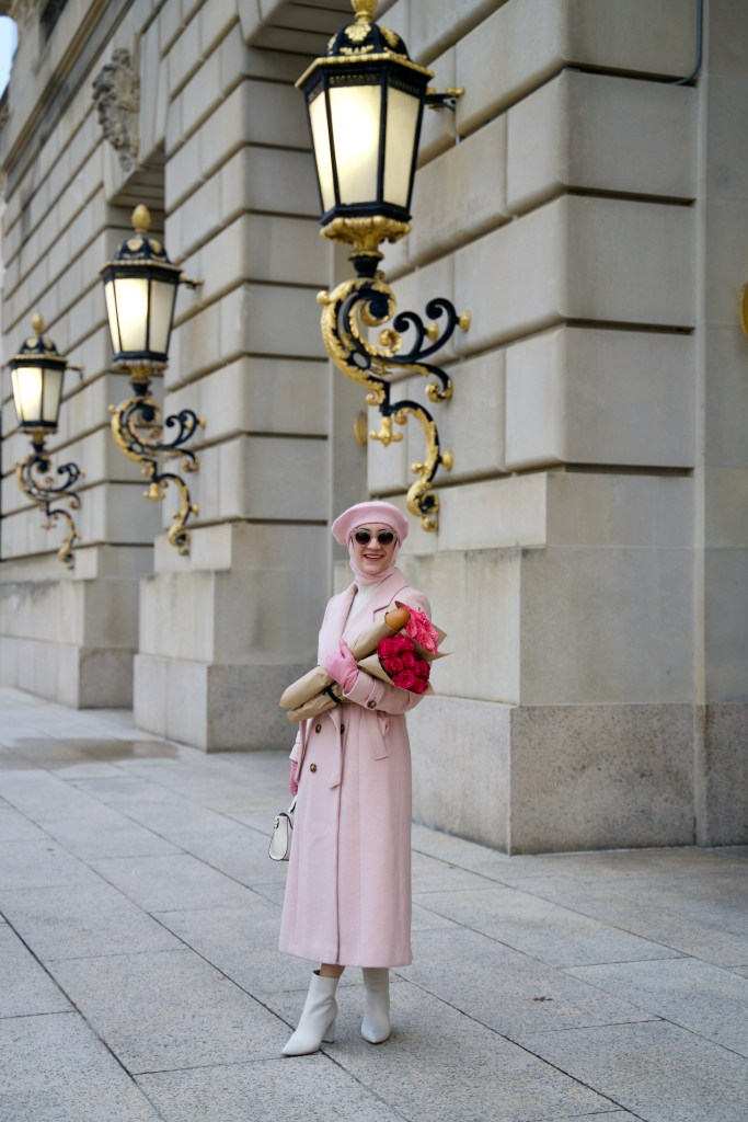 Winter-Fashion-Pink-Coat-French-Beret-Hijab-DC