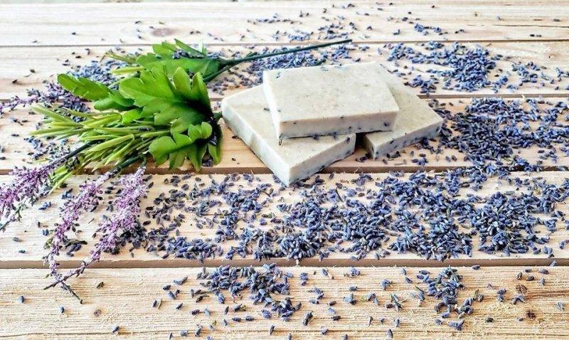 Homemade Lavender Honey Oatmeal Soap