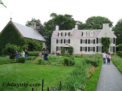 Peacefield, the Adams estate that contains the Stone Library and the Old House (John Adams House)