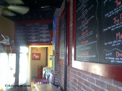 Interior Shot of the Blackboard Menus in SchoolHouse Pizza