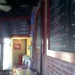 Interior Shot of the Blackboard Menus in SchoolHouse Pizza