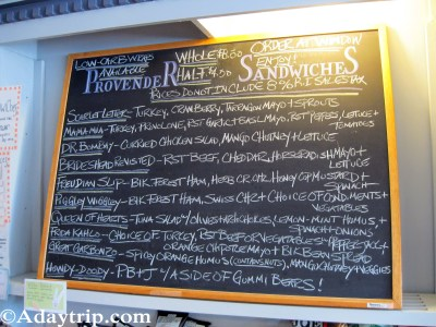 Sandwiches at Provender