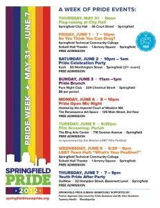 Springfield Schedule 2012