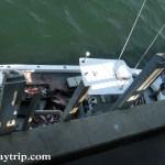 Boat docked unloading its fish