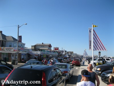 Busy boardwalk at Hampton Beach