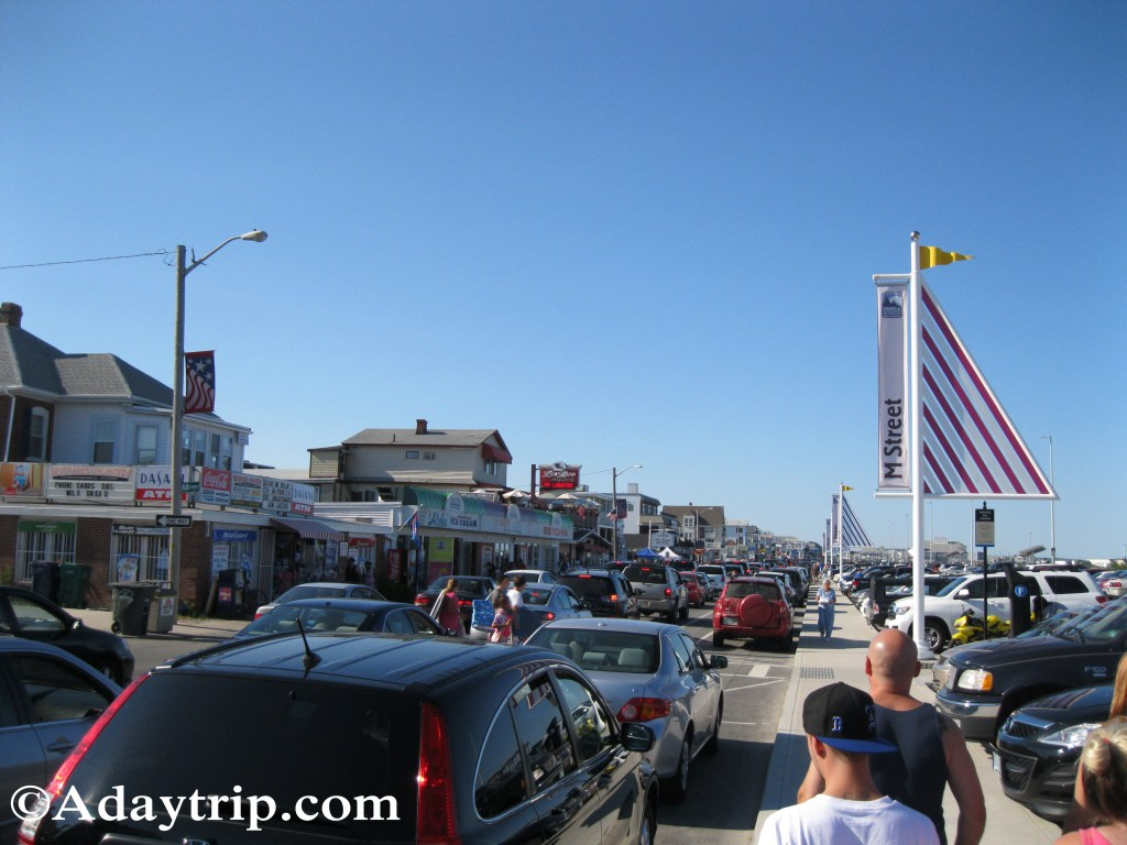 Busy boardwalk at Hampton Beach