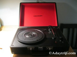 My new, portable turntable