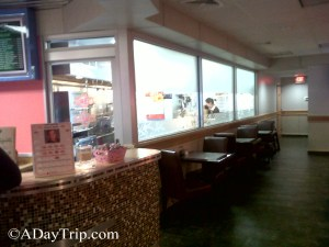 The clean, open kitchen at Bamboo Cafe in Brockton, MA