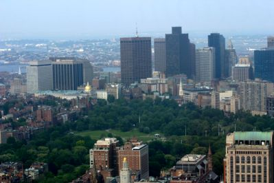 Boston Common from a bird's eye view