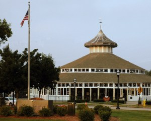 The Crescent Park Looff Carousel and Shelter Building - famous landmarks in Rhode Island.
