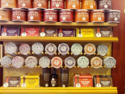 A display of the delicious, organic Taza Chocolate