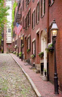 Acorn Street in Beacon Hill is said to be the most romantic street in Boston.