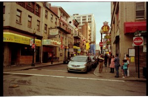 The streets of Chinatown Boston