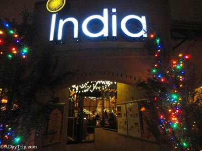 The entrance to India Restaurant in Providence, RI is your gateway for a great night