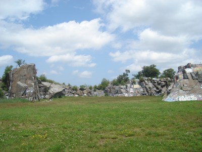 Quincy Quarries in West Quincy MA for great climbing