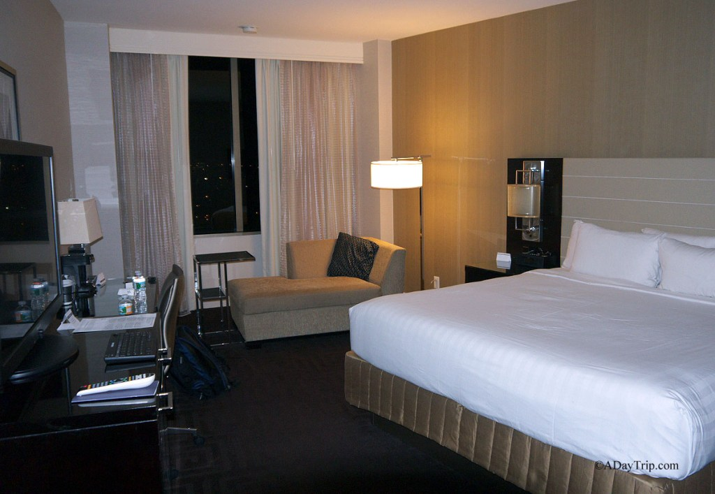 Our large clean room at the Hyatt Regency in New Orleans