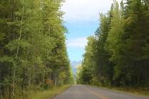 Just entering Glacier National Park.