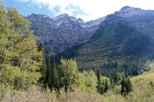 Beautiful scenery along Going-to-the-Sun Road in Glacier National Park.