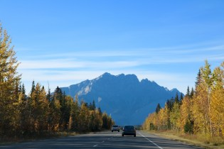 Views of the drive from Calgary into Canmore and Banff.