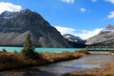 Bow Lake along the Icefields Parkway.
