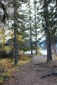 Pyramid Island trail in Jasper National Park