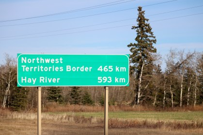 Only 465 more km to go to the border!