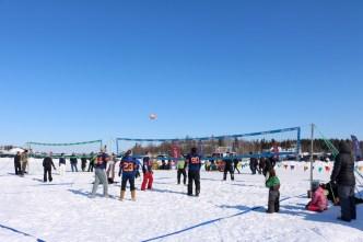 Snow Beach Volleyball at the Jamboree