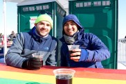 Birthday drinks in the BRR tent with our friend Edwin