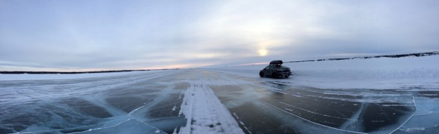 Our first visit to the ice road highway that stretches across Great Slave Lake from Yellowknife to the Dene community of Dettah.
