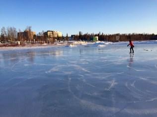 Skating around on Frame Lake