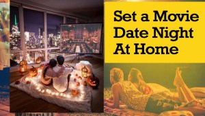 set a movie date at home