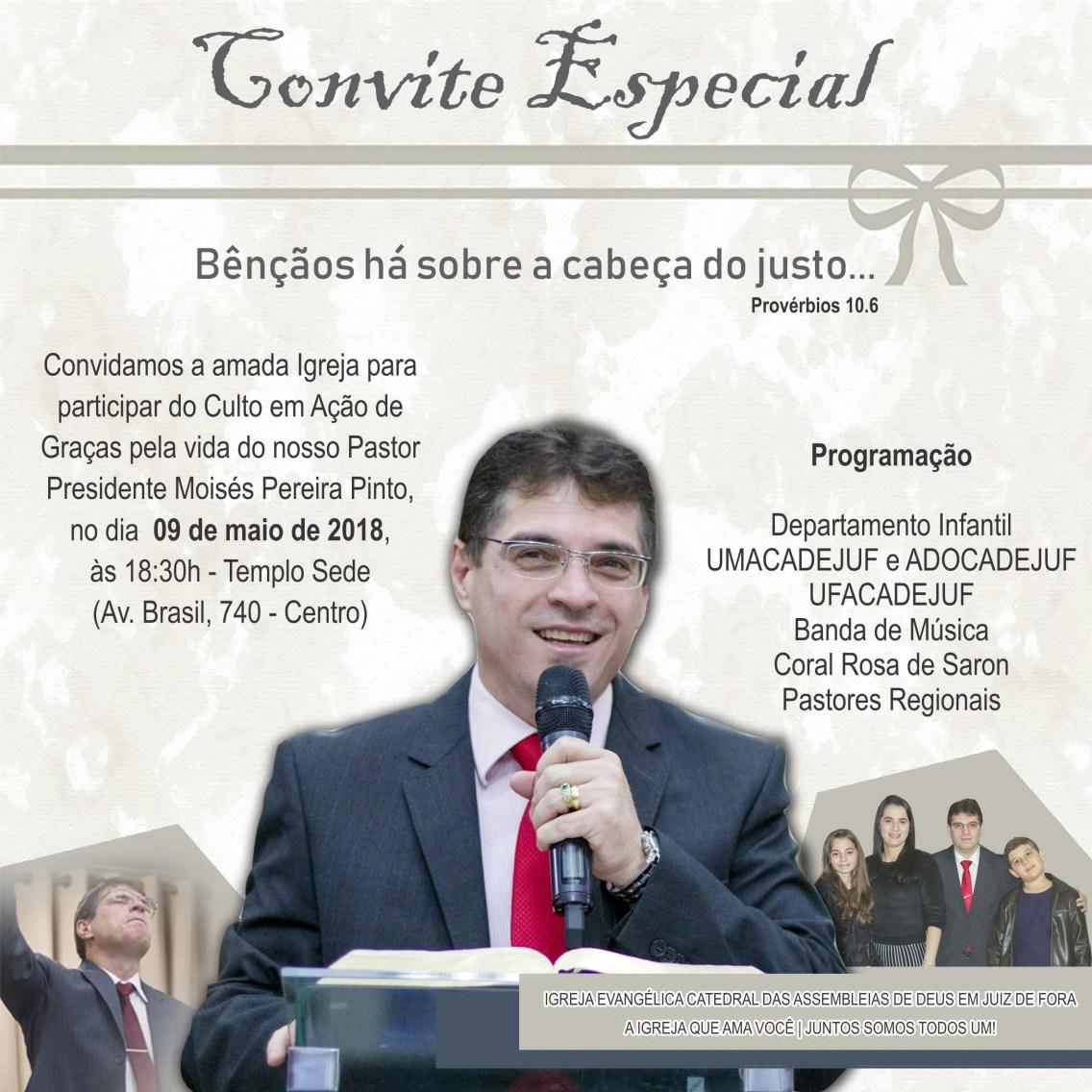 Culto Em Agradecimento Pelo Aniversário Do Pastor Moisés Pereira