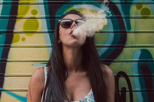cannabis influencer smoking