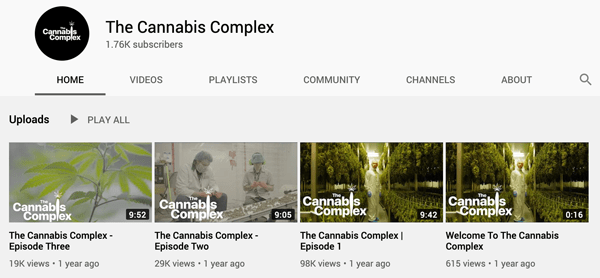 The Cannabis Complex Youtube